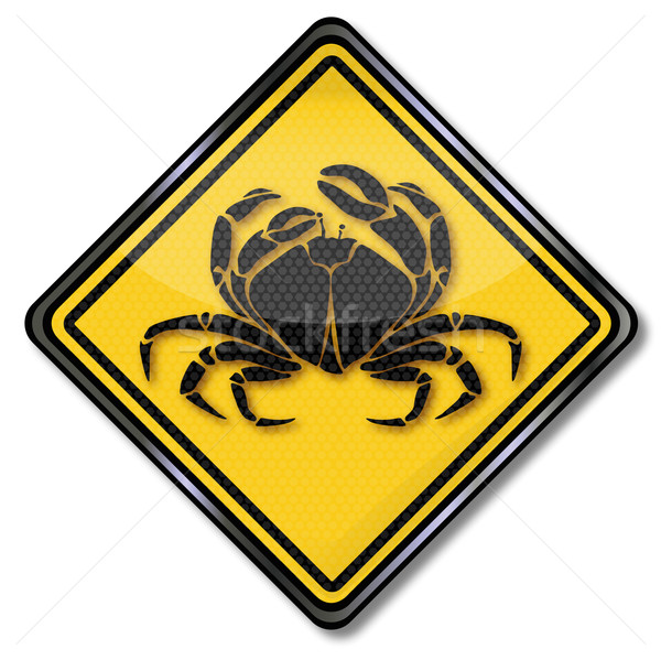 Sign cancer and crab Stock photo © Ustofre9