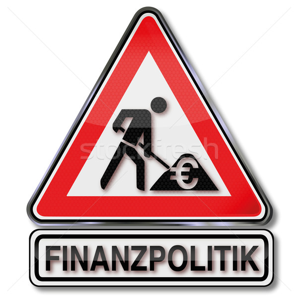 Warning sign construction and fiscal policy  Stock photo © Ustofre9