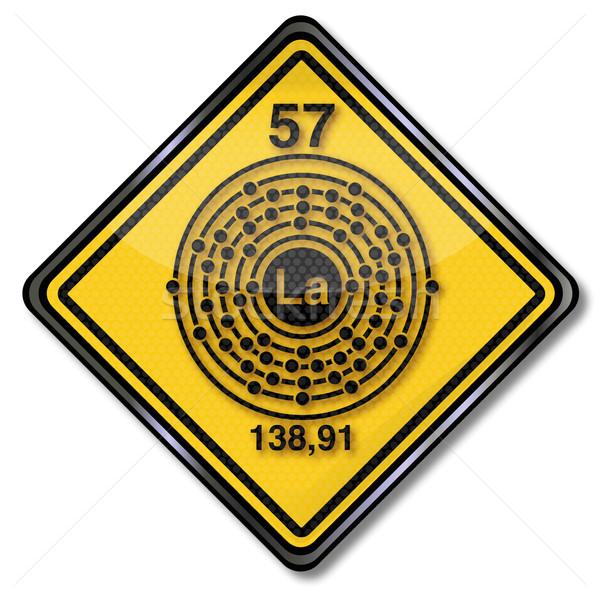 Signe chimie personnage bouclier métal signes Photo stock © Ustofre9