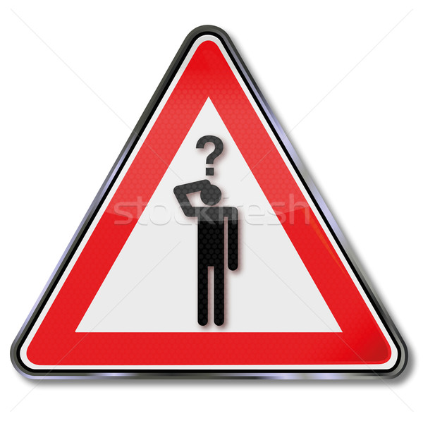 Sign man with a question Stock photo © Ustofre9