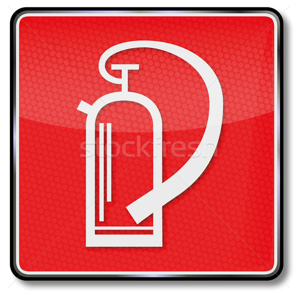 Fire safety sign fire extinguisher Stock photo © Ustofre9