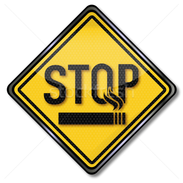 Stop sign smokers and smoking cessation Stock photo © Ustofre9