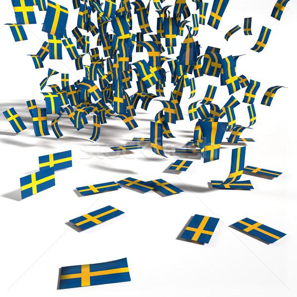 Wiele flagi Szwecja prawa banderą wolności Zdjęcia stock © Ustofre9