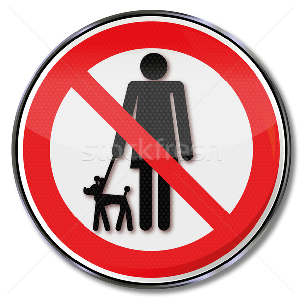 Prohibition sign for dogs on a leash  Stock photo © Ustofre9