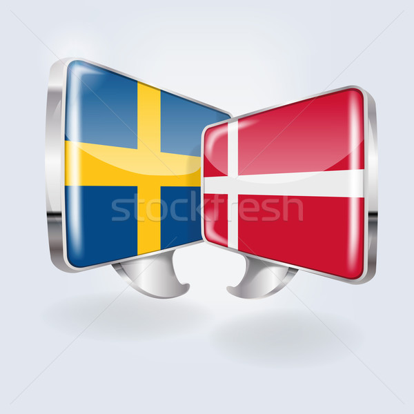 Bubbles and speech in swedish and danish Stock photo © Ustofre9