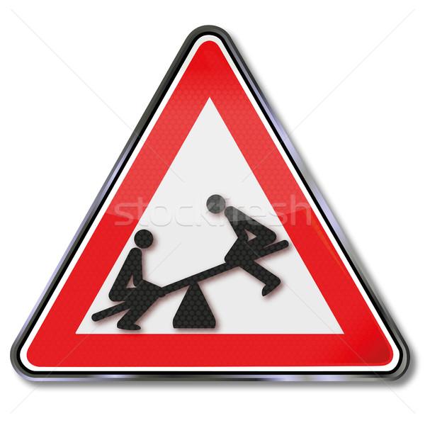 Felirat két személy hinta bár törvény egyensúly Stock fotó © Ustofre9