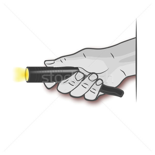 Hand with a bright flashlight Stock photo © Ustofre9