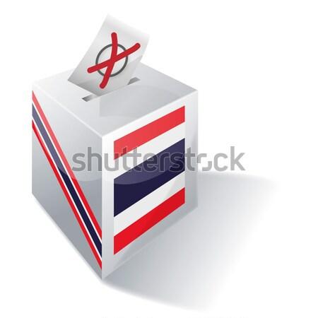 Szavazócédula doboz Skócia kereszt zászló Európa Stock fotó © Ustofre9