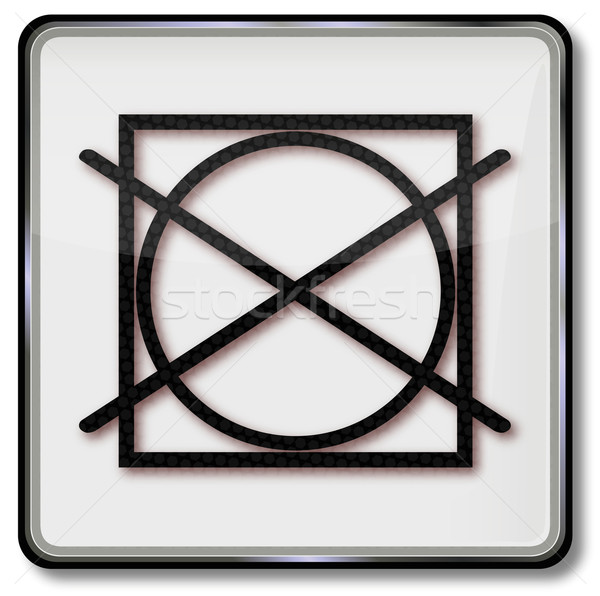 Textile care symbol do not tumble dryers and drum dryer Stock photo © Ustofre9