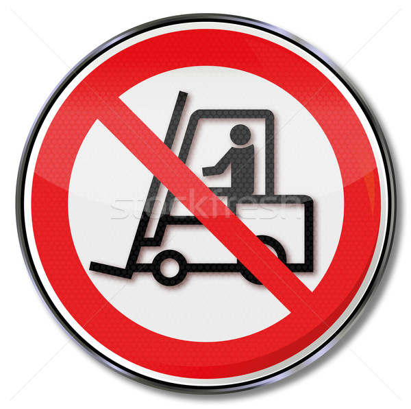 Prohibition sign for forklift trucks Stock photo © Ustofre9
