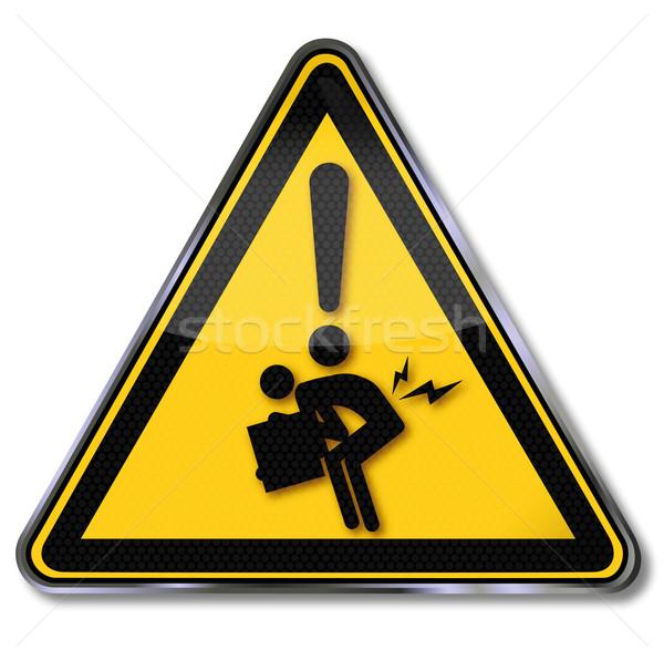 Figyelmeztető jel helytelen emel munka masszázs jóga Stock fotó © Ustofre9