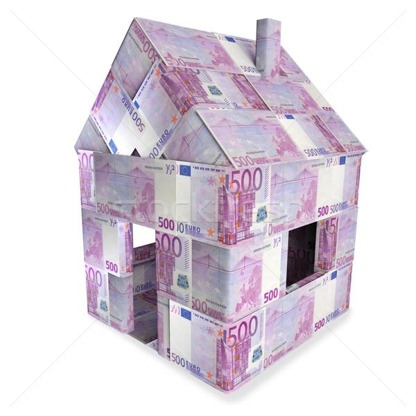 Ház 500 Euro számlák üzlet pénz Stock fotó © Ustofre9
