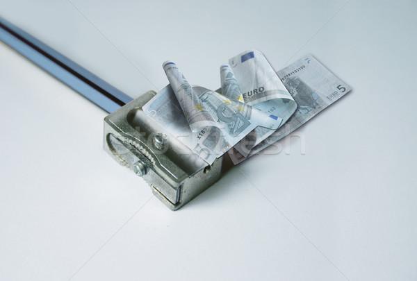 Ceny euro temperówka projektu farbują finansów Zdjęcia stock © Ustofre9