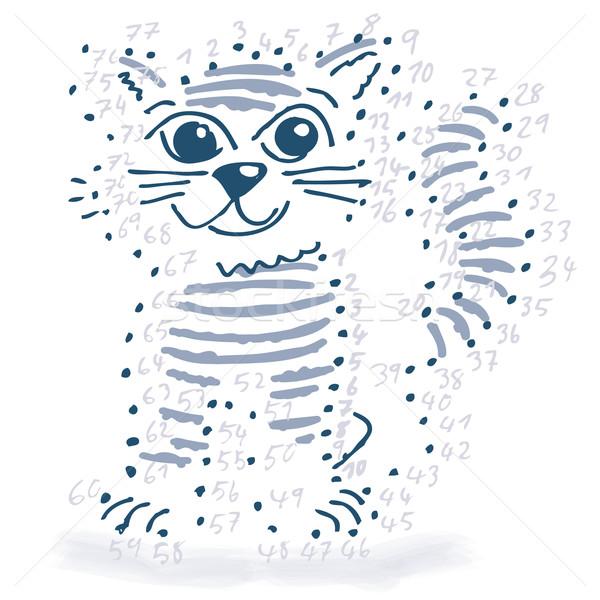 Ponto desenho pequeno gato projeto modelo Foto stock © Ustofre9