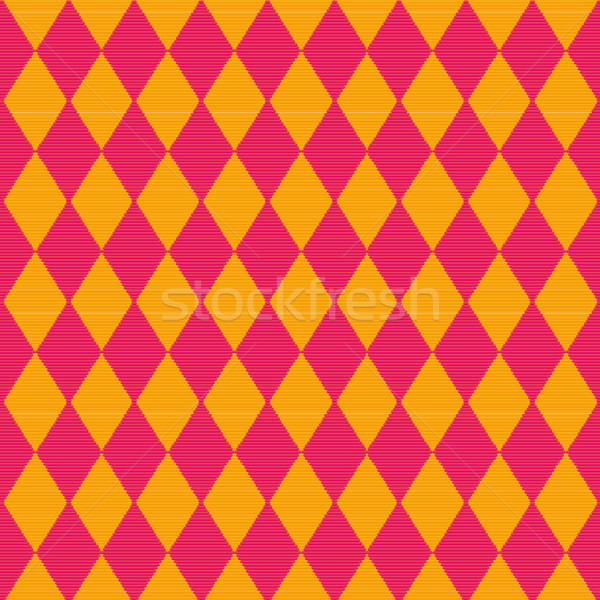 Cloth with red and yellow diamond pattern Stock photo © Ustofre9