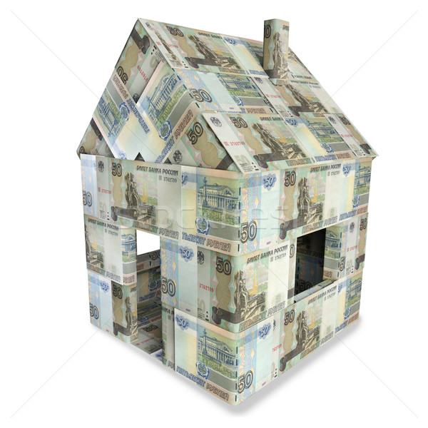 House made of 50 rubles bills Stock photo © Ustofre9