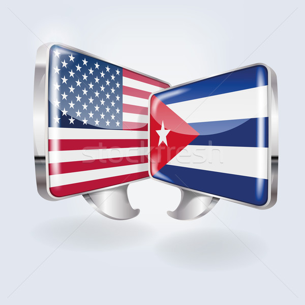 Bubbles and speech in Cuban and American Stock photo © Ustofre9