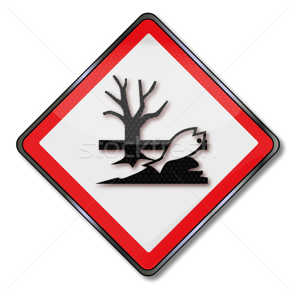 Danger sign caution hazardous for water Stock photo © Ustofre9