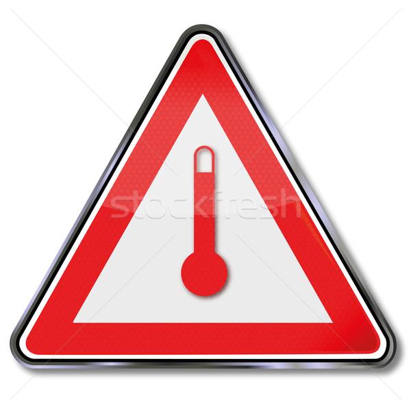 Felirat hőmérő hőmérséklet feliratok hideg kutatás Stock fotó © Ustofre9