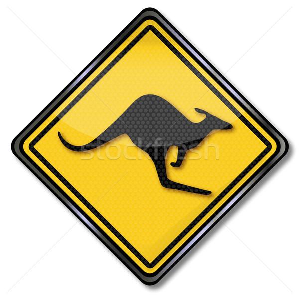 Közlekedési tábla figyelmeztetés teherautó felirat forgalom feliratok Stock fotó © Ustofre9