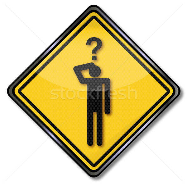 Sign man with a question and question game Stock photo © Ustofre9