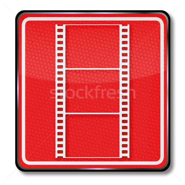 Teken foto fotografie televisie film bioscoop Stockfoto © Ustofre9