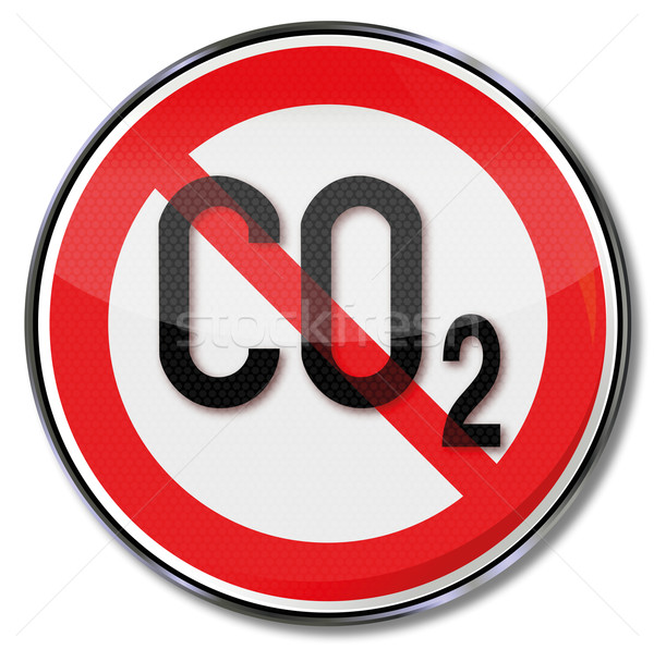 Stock photo: Prohibition sign for carbon dioxide