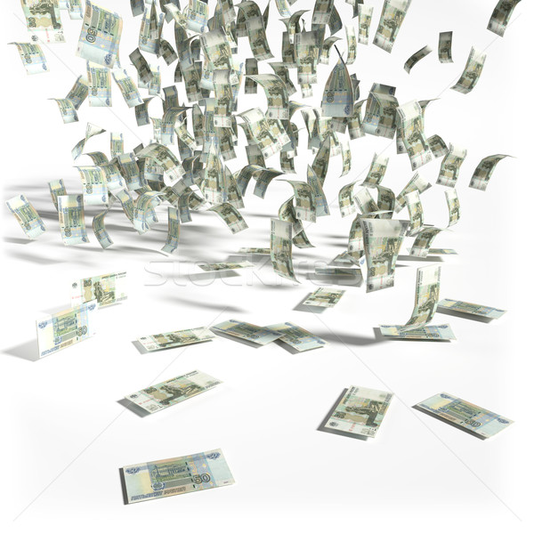Money rain of 50 rubles bills Stock photo © Ustofre9