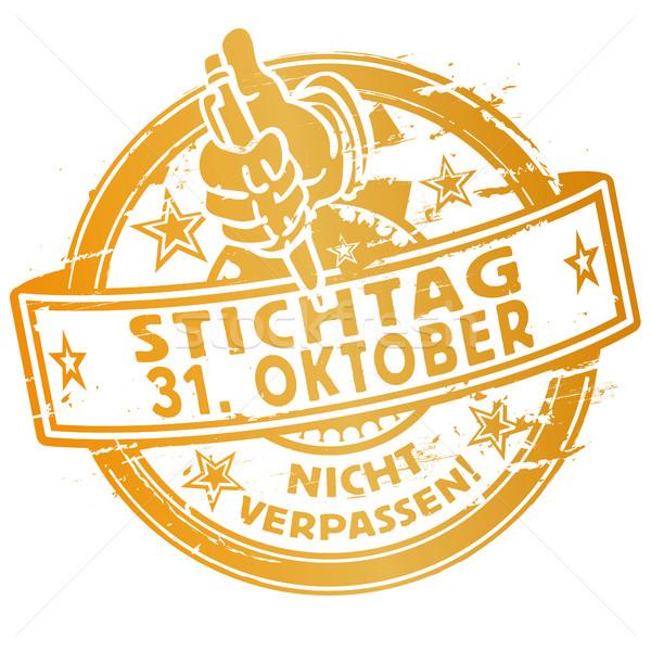 Rubber stamp deadline october 31th Stock photo © Ustofre9