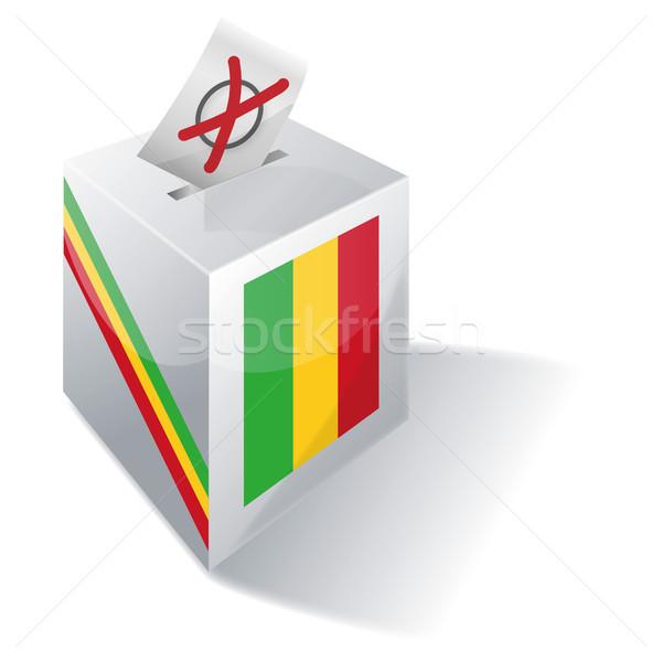Oylama kutu Mali çapraz bayrak özgürlük Stok fotoğraf © Ustofre9