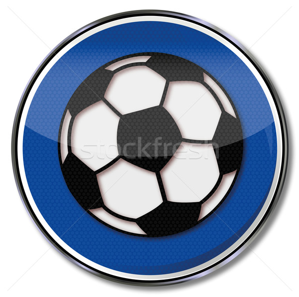 Sign soccer match and soccer ball Stock photo © Ustofre9