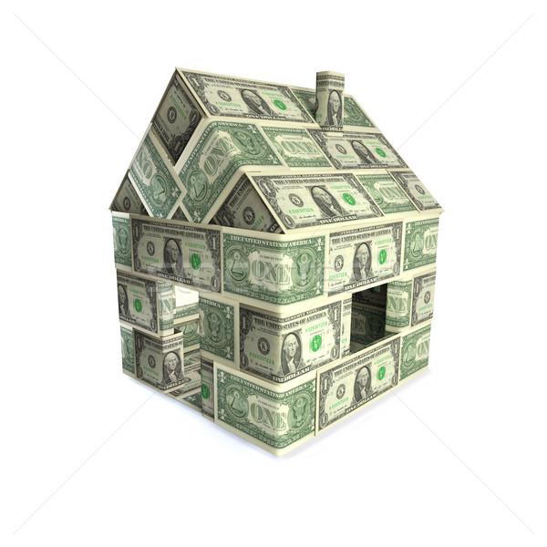 Casa dólares dinheiro rua assinar lei Foto stock © Ustofre9