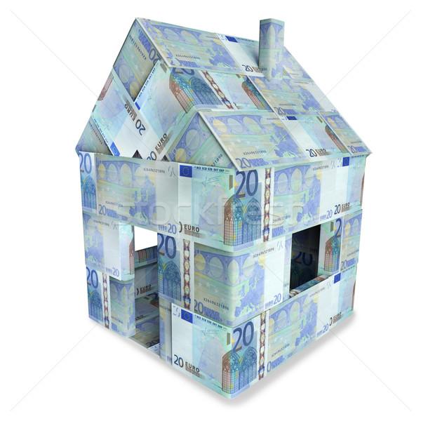 House made of 20 euro notes Stock photo © Ustofre9