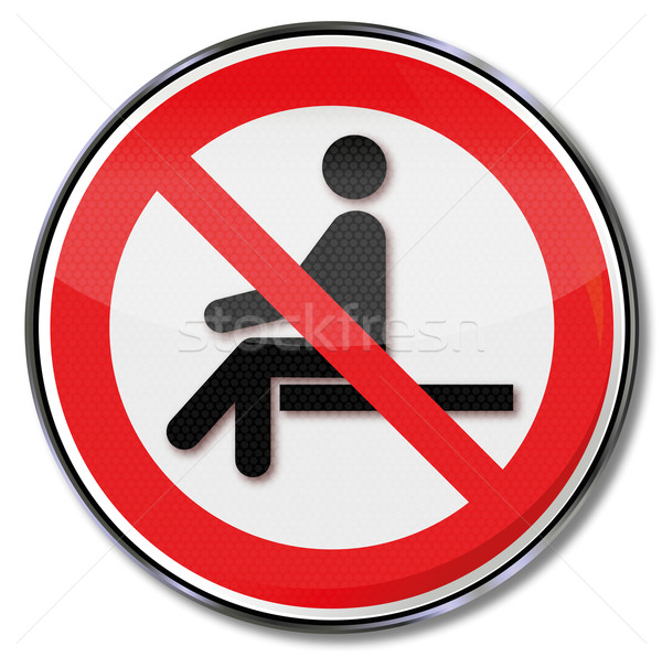Prohibition sign no sitting  Stock photo © Ustofre9