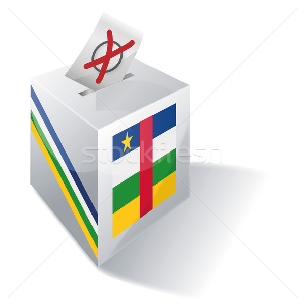 Ballot box of Central Africa Stock photo © Ustofre9