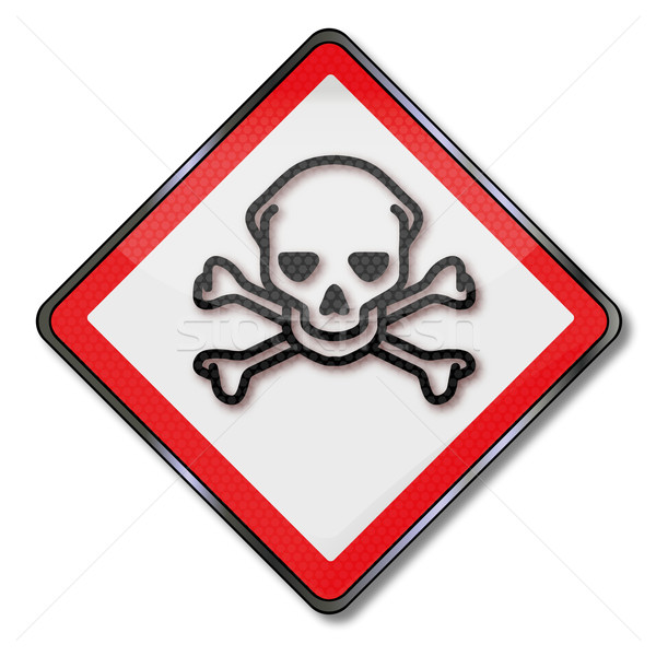 Danger sign caution poison and toxic chemicals Stock photo © Ustofre9