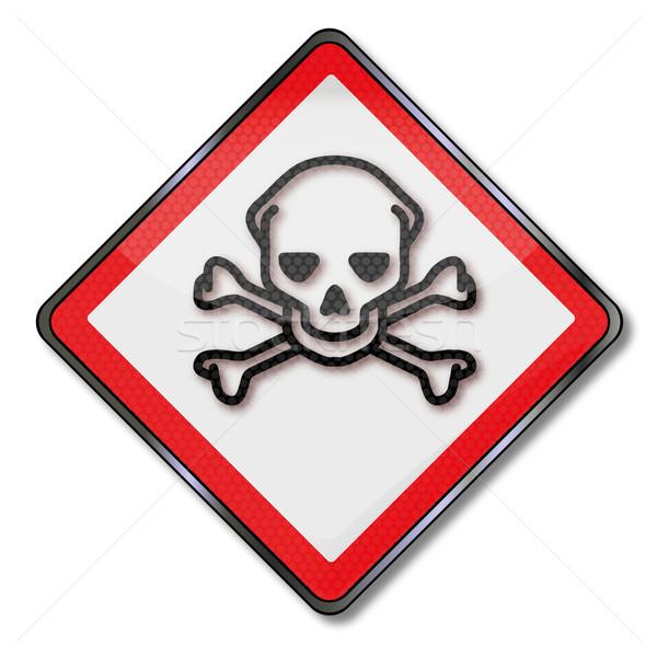 Tehlike işareti dikkat zehir toksik kimyasallar sağlık Stok fotoğraf © Ustofre9
