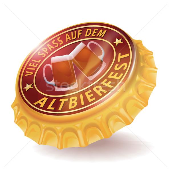 Bouteille cap sombre bière festival métal Photo stock © Ustofre9