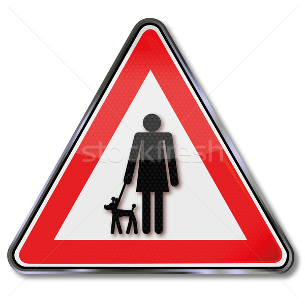 Sign mistress with a dog  Stock photo © Ustofre9