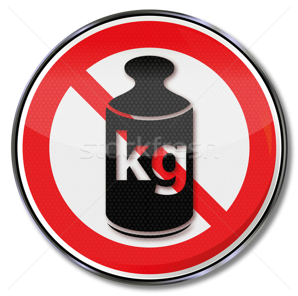 Prohibition sign weight and kilogram  Stock photo © Ustofre9