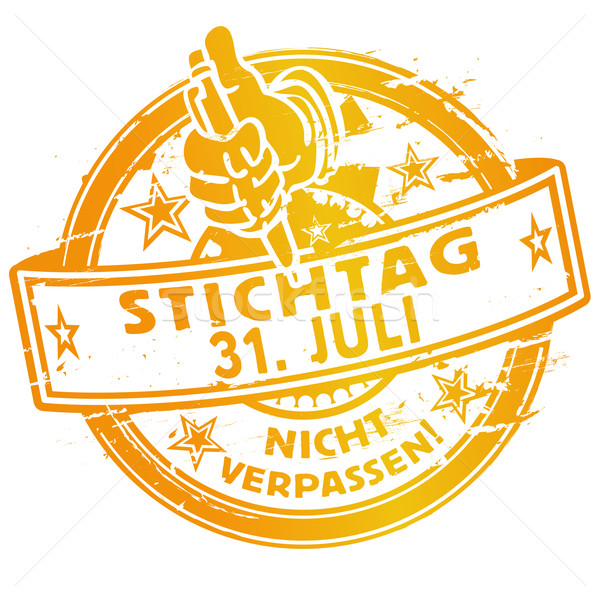 Rubber stamp of july 31th Stock photo © Ustofre9