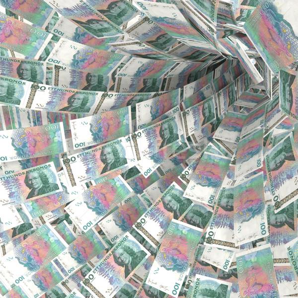 Geld draaikolk 100 markt nota Stockfoto © Ustofre9