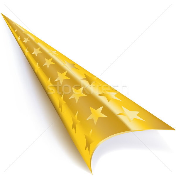 Rolled corner in gold with stars Stock photo © Ustofre9