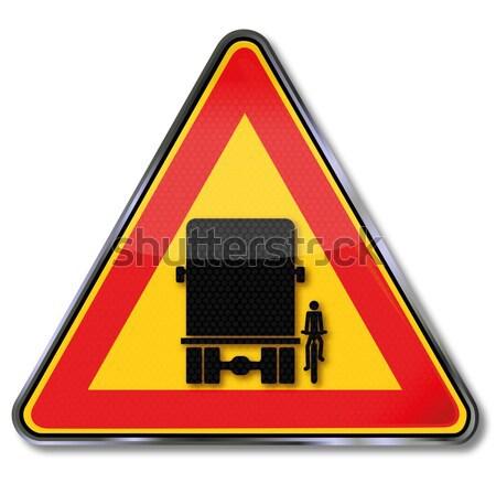 Road sign harvester Stock photo © Ustofre9