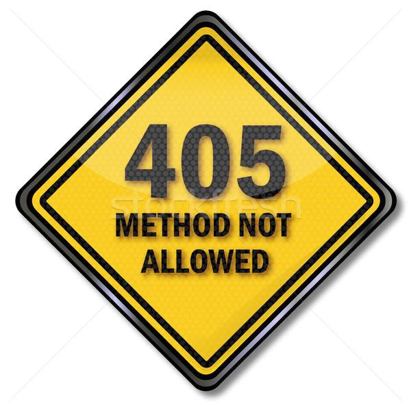 Stock photo: Computer sign 405 method not allowed