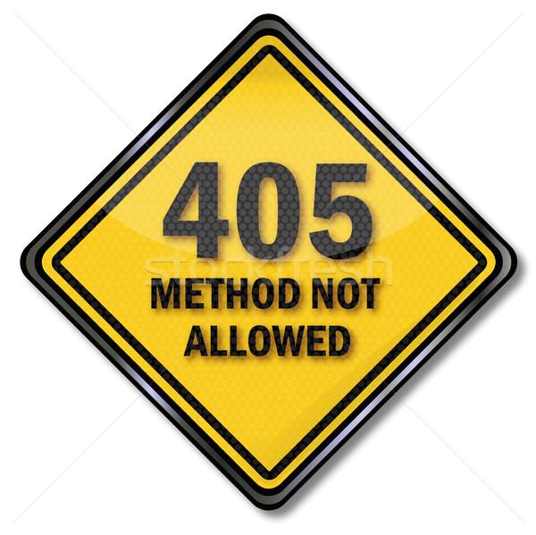 Computer teken methode niet toegestaan contact Stockfoto © Ustofre9