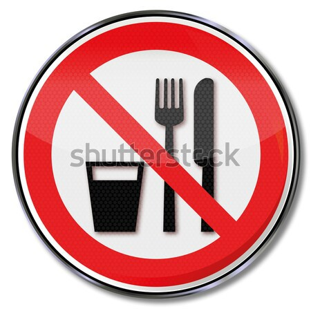 Prohibition sign no naked flames and sparks Stock photo © Ustofre9