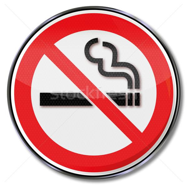 Imzalamak değil duman sigara içme Stok fotoğraf © Ustofre9