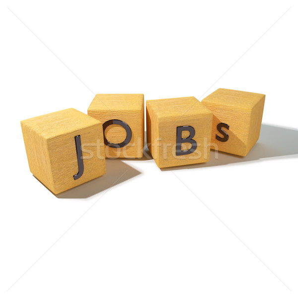 Cubes with jobs Stock photo © Ustofre9