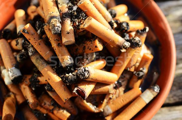 Sigaret achtergrond onderwijs roken gebroken vuil Stockfoto © Ustofre9